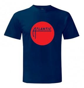 Atlantic Records Classic Logo T Shirts Navy Blue