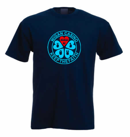 Northern Soul T Shirt - Heart of Soul Wigan Casino ss117
