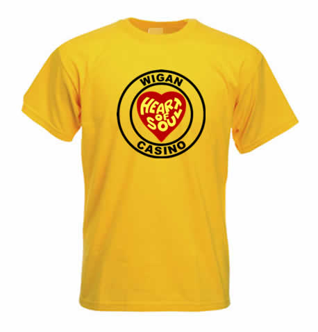 Northern Soul T Shirt - Heart of Soul Wigan Casino ss118
