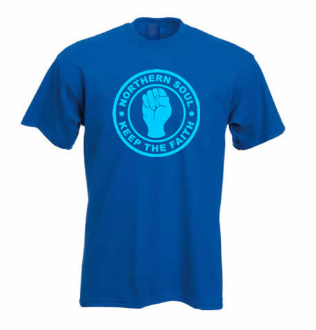 Northern Soul T Shirt - Keep The Faith ss122