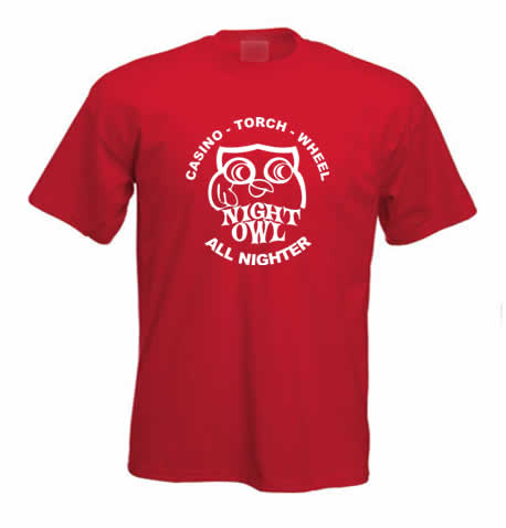 Northern Soul T Shirt - Owl Up All Night ss128