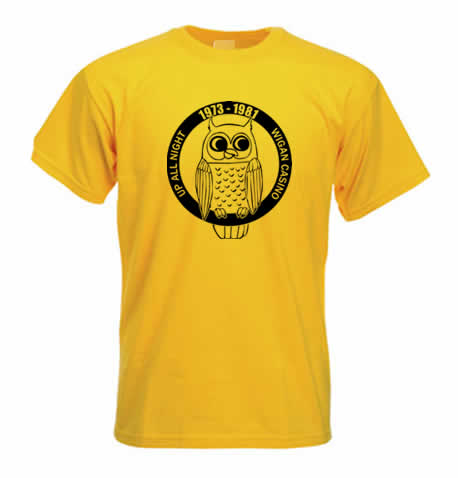 Northern Soul T shirt - Wigan Casino up all night ss214
